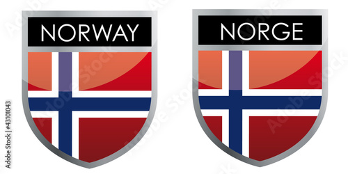 Norway flag emblem