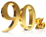 Ninety percent 3D in gold