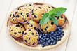mascarpone and blueberry muffins