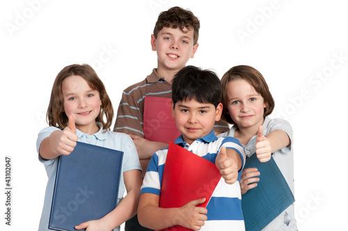 erfolgreiche schülergruppe