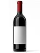 Bouteille de vin rouge sur fond blanc 1 - 43103274