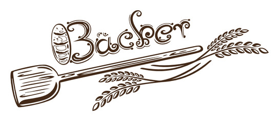 Bäcker, Brot, Mehl, Getreide, Korn, vector