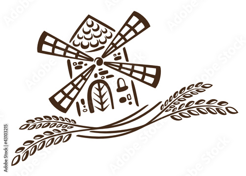 Bäcker, Brot, Mehl, Getreide, Mühle, Korn, vector