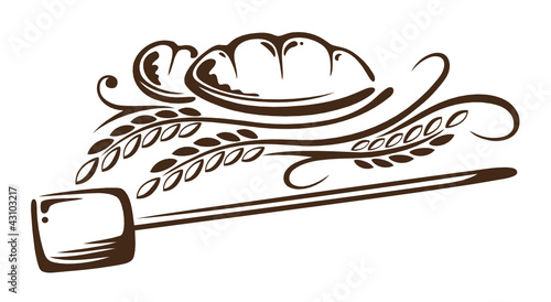 Bäcker, Brot, Mehl, Getreide, Korn, vector - 43103217