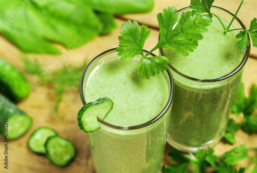 Healthy drink, vegetable juice, studio shot