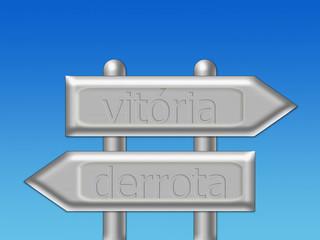 Escolher uma direção - vitória ou derrota