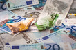 Geld, Euro, Banknoten, Schiff