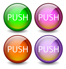 glossy buttons Push
