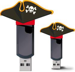 Pirate USB flash drive