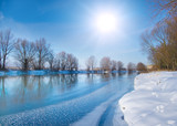 snow-covered winter river
