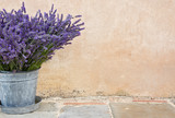 Bouquet of lavender in a metal bucket - 43107294