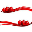 Banner Christmas Red/Silver Christmas Balls Pattern
