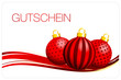 Gutschein Christbaumkugeln rot/gold