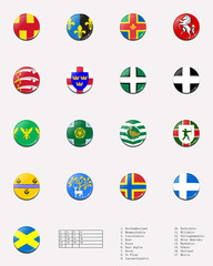 Regional and cities' flags ball of UK 2/2