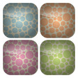 Set of Rounded Square Pastel Spots Icons