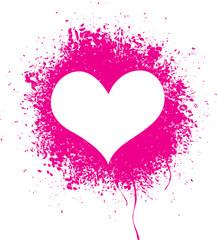 Sprayed heart