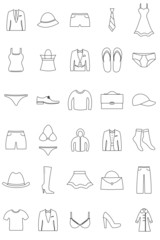 Mode Icons Kontur
