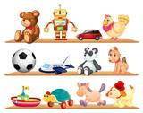 Fototapety various toys