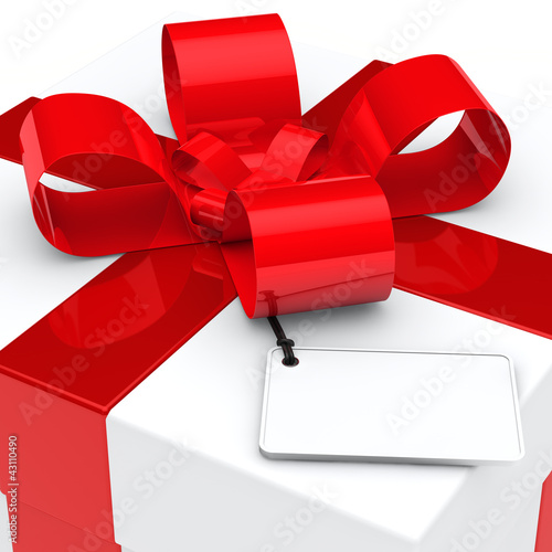 gift box red ribbon