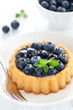 Kuchen mit Heidelbeeren
