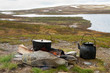 Campfire cooking in Swedish Lapland. - 43111044