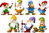 Fototapety funny gnomes