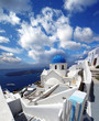 Famous Architecture in Santorini island, Greece
