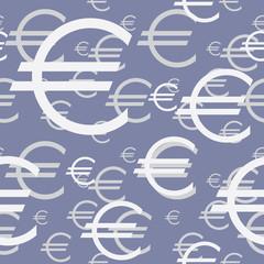 Euro Symbol Seamless Background