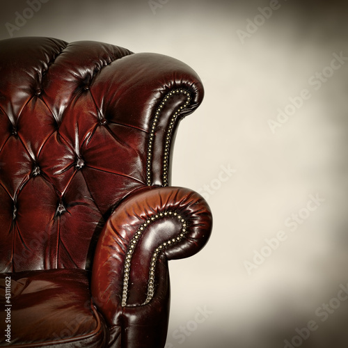 classic leather armchair