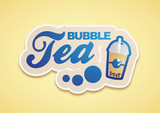 Bubble Tea Logo Blau