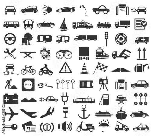 Traffic Icon Icon Set Traffic Stock Image