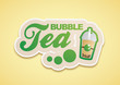 Bubble Tea Logo Grün
