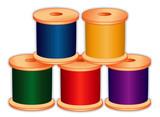 Threads for sewing, tailoring, quilting, craft, needlework, diy poster