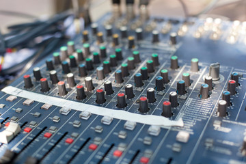 Professional sound mixer control desk