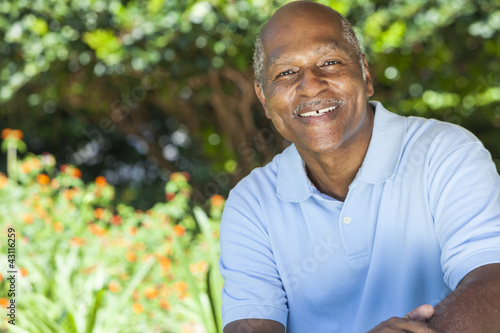 Happy Senior African American Man
