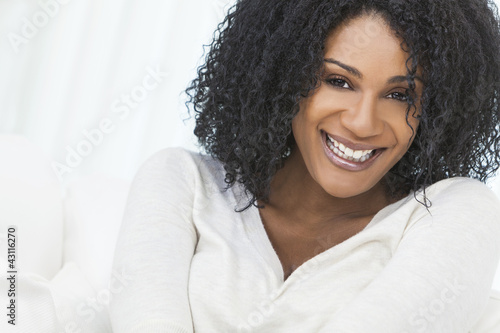Beautiful Smiling Laughing African American Woman