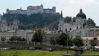 Salzburg - old town with castle