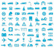 Blue Icon Set Traffic