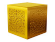 pedestal or display in gold with ornamental decoration