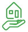 Symbol Hand mit Haus