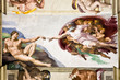 Leinwandbild Motiv Creation of Adam by Michelangelo, Sistine Chapel, Rome