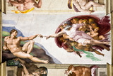 Fototapety Creation of Adam by Michelangelo, Sistine Chapel, Rome