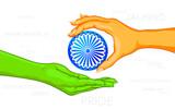 Hand giving Ashok Chakara