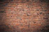 Fototapety Ziegelmauer mit Vignette