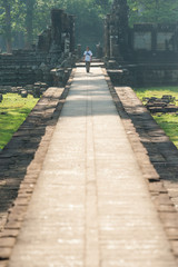 Long corridor into the temple
