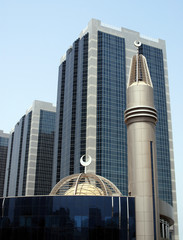 modern mosque in Abu Dhabi