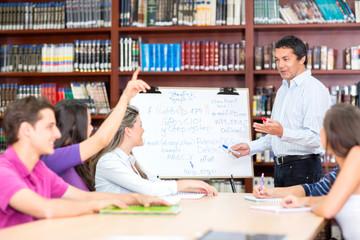 Teacher explaining the subject