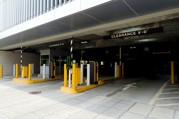 Entry to downtown building garage