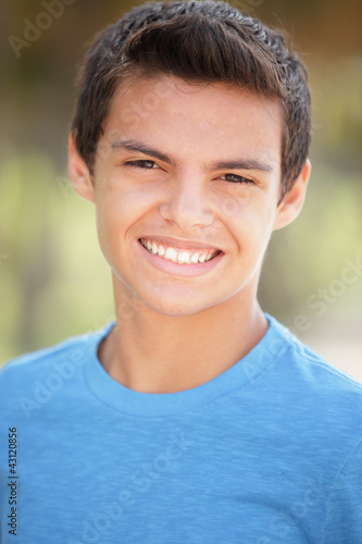 Stock image of a young teenager smiling