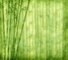 Vieille texture de papier avec du bambou.